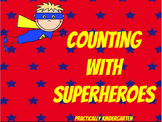 Superhero Counting Numbers 0 - 20 Matching Flash Cards