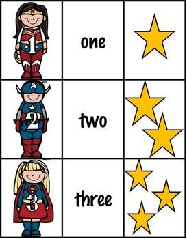 Superhero Counting-Numbers 1-20