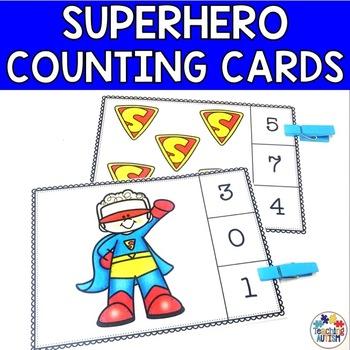 Superhero Counting Task Cards