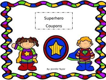 Superhero Coupons
