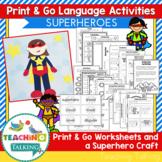 Superhero Speech and Language Activities