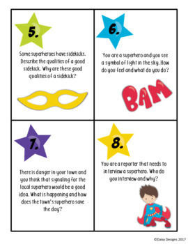 Superhero Writing Grades 2-4