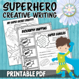 Superhero Writing Grades 2-4