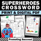 Superhero Activities, Vocabulary Crossword Puzzle, Superhero Theme