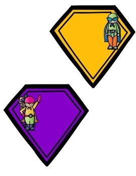 Superhero Cubby Tags