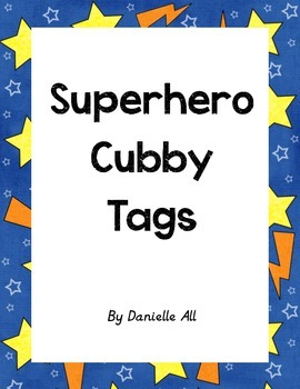 Superhero Cubby Tags