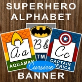 Superhero Cursive ABC Bulletin Board Alphabet Banner Poster Letters Marvel DC