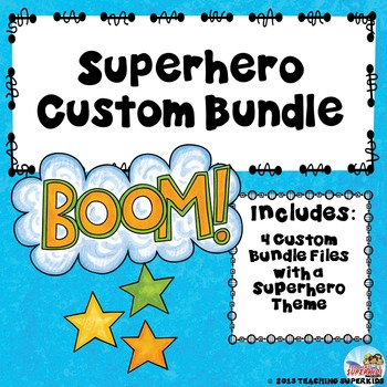 Superhero Custom Bundle for Ms. Snair