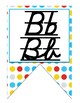 Superhero D'Nealian print and cursive Alphabet banner