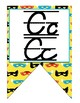 Superhero D'Nealian manuscript and cursive Alphabet banner
