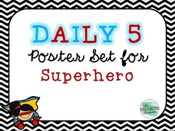 Superhero Daily 5 Poster Set