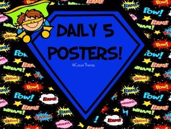 Superhero Daily 5 Posters