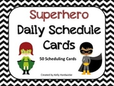 Superhero Daily Schedule Cards *50 Cards with 5 Blank Cards