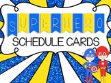 Superhero Daily Schedule Cards