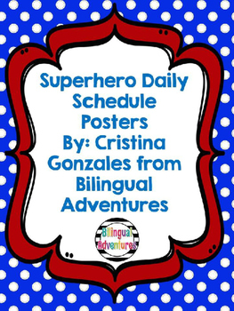 Superhero Daily Schedule Poster