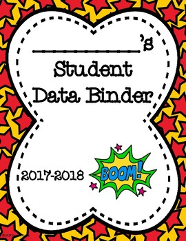 Student Data Binders - Superhero Theme
