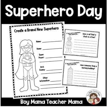 Superhero Day at School Activities