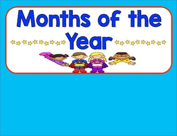 Superhero Days and Months Cards