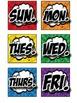 Superhero Days of the Week Calendar Cards