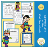 Superhero Days of the Week Worksheets