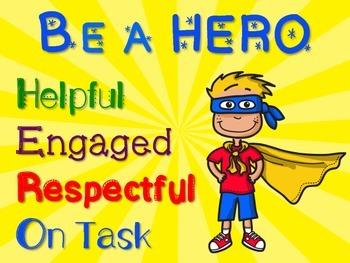 Superhero Decor: Be A Hero Poster FREE