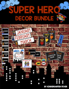 Superhero Decor Bundle *Editable!