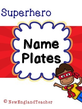 Superhero Decor: Name Plates