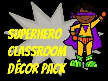 Superhero Decor Pack