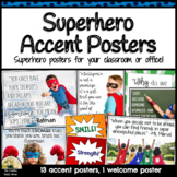 Superhero Decor Posters