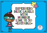 Superhero Desk Labels *EDITABLE*