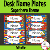 Superhero Theme Labels for Name Plates | Desk Labels **Editable**