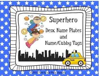 Superhero Desk Name Plates and Name/Cubby Tags