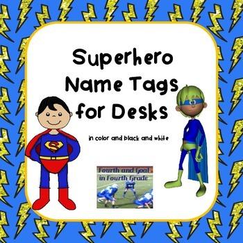 Superhero Desk Name Tags