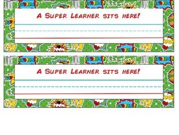 Superhero Desk Nameplates- Editable