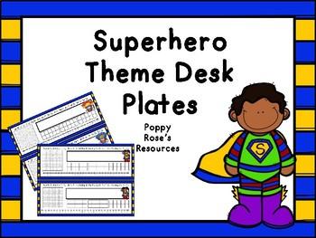 Superhero Desk Plates