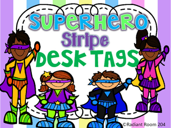 Superhero Desk Tags