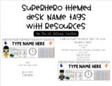 Superhero Desk Tags/Name Plates- Editable