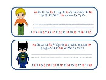 Superhero Desktop Nametags