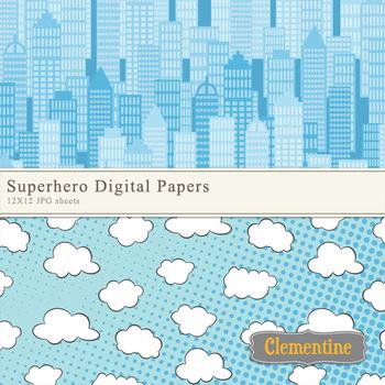 Superhero Digital Papers