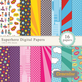 Superhero Digital Papers - Lovely Clementine