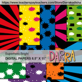 Superhero Digital Papers - Background for cover page