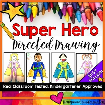 Superhero Directed Drawing & Writing!  For Mother's Day, Father's Day, Anytime!
