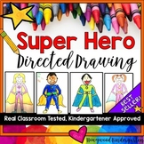 Superhero Directed Drawing & Writing   Father's Day Directed Drawing