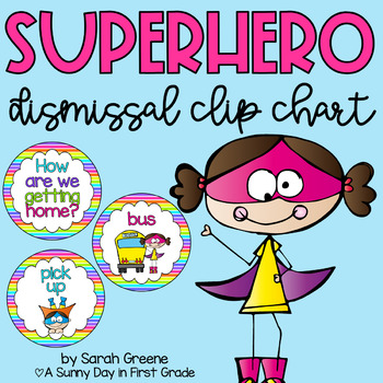 Superhero Dismissal Chart {neon stripes!}