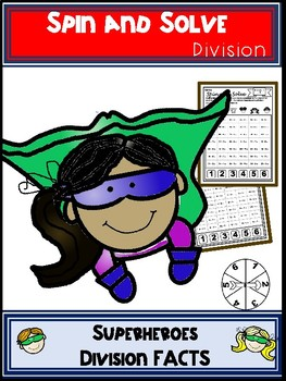 Superhero Division Spin and Solve Math Centers