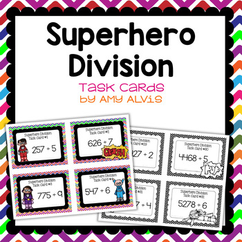 Division Task Cards Superhero