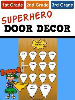 Superhero Door Decoration