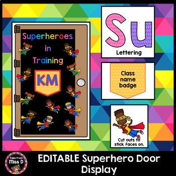 Superhero Door Display EDITABLE