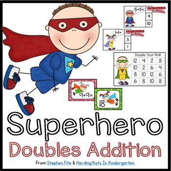 Superhero Doubles Activities Set & Song Package