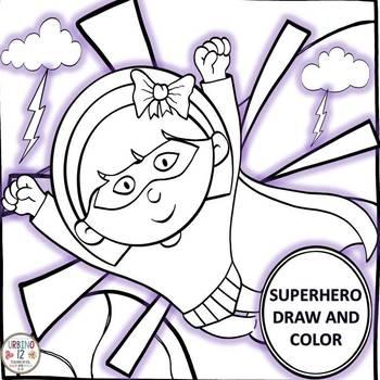 Superhero Draw and Color